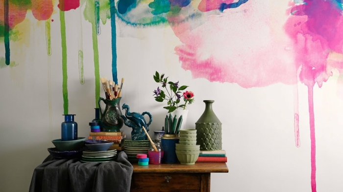 kreative wandgestaltung mit farbe beispiele vegdis. Black Bedroom Furniture Sets. Home Design Ideas