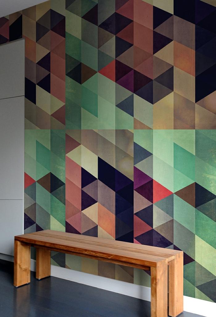 kreative wandgestaltung wandgestaltung farbgestaltung dreiecke rauten