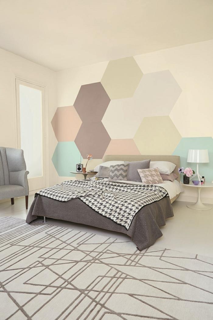 waende gestalten wandgestaltung farbgestaltung hexagon