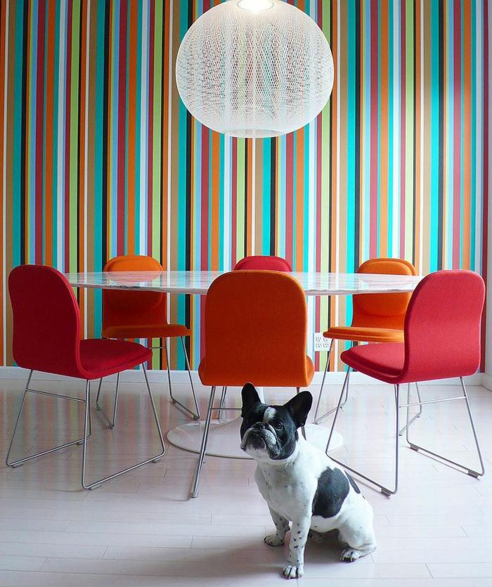 kreative wandgestaltung wandgestaltung farbgestaltung streifen - Wandgestaltung Streifen