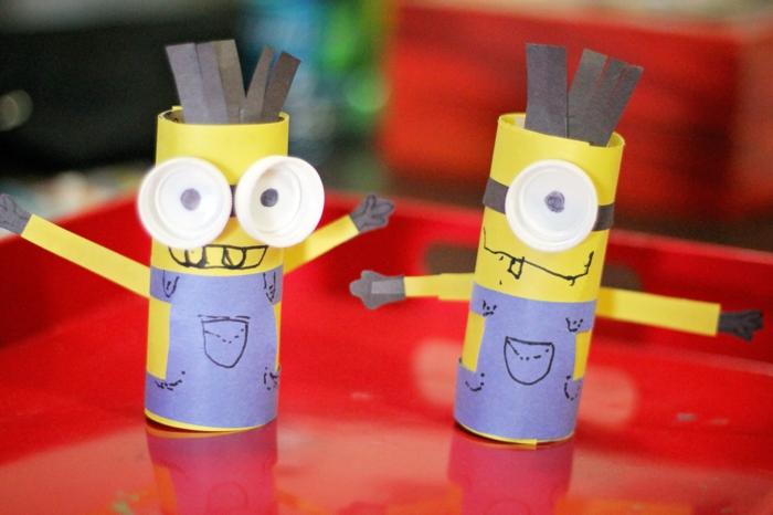 kreatives basteln papierrolle lieblingshelden