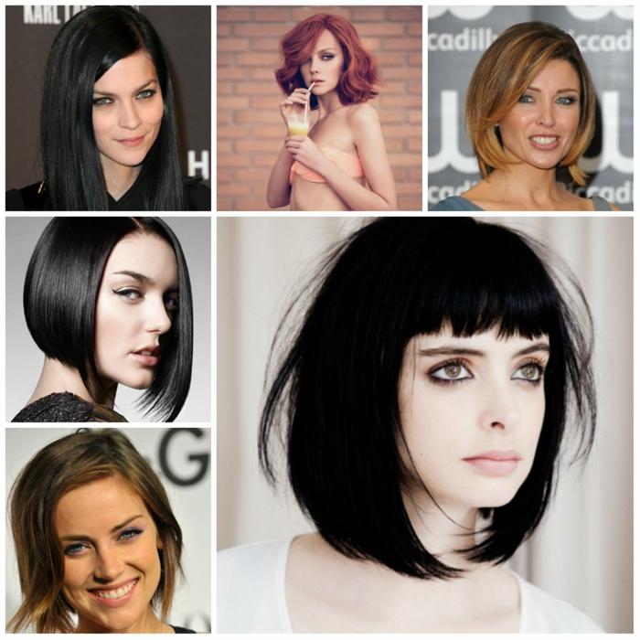 kurzhaarfrisuren pagenschnitt kurzhaarfrisur damen haarfrisuren frauen trend glatt bob