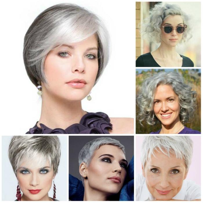 pagenschnitt damen frisuren frauen trend wellig grau
