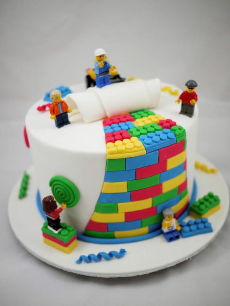 lego Kindertorte Geburtstagstorten Bilder Tortendekoration