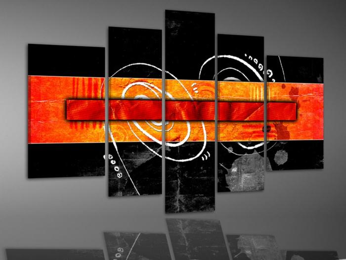 leinwandbilder online bestellen composition schwarz orange leinwandbilder24.ch