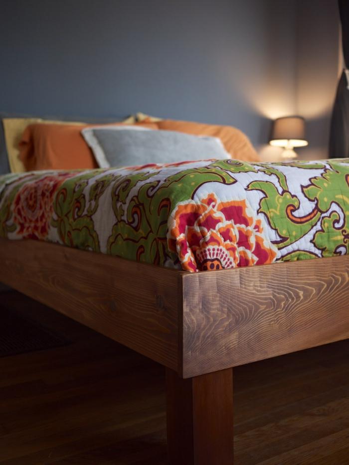 möbel selber bauen bett bettrahmen wohnideen schlafzimmer