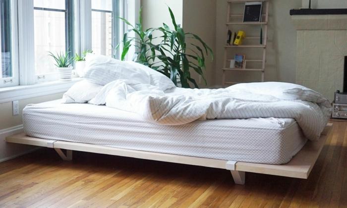 möbel selber bauen bettrahmen holz wohnideen schlafzimmer