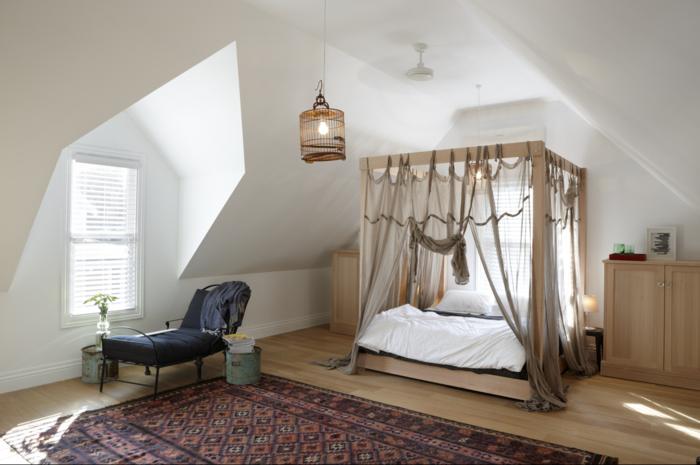 möbel selber bauen himmelbett wohnideen schlafzimmer