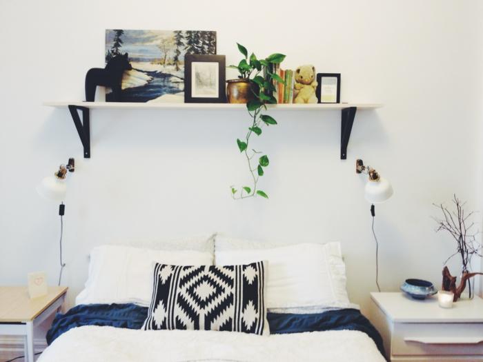 diy ideen schlafzimmer kreative wohnideen wandregal