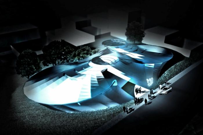 moderne architektur zukunftsansichten museum der museum des scince fiction
