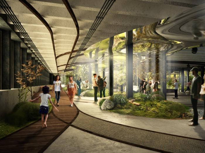 Moderne Architektur Zukunftsansichten Museum Der Zukunft Platten