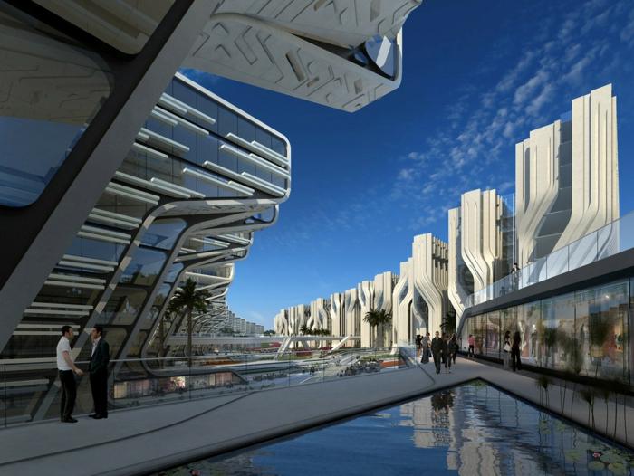 moderne architektur  zukunftsansichten museum der zukunft modell