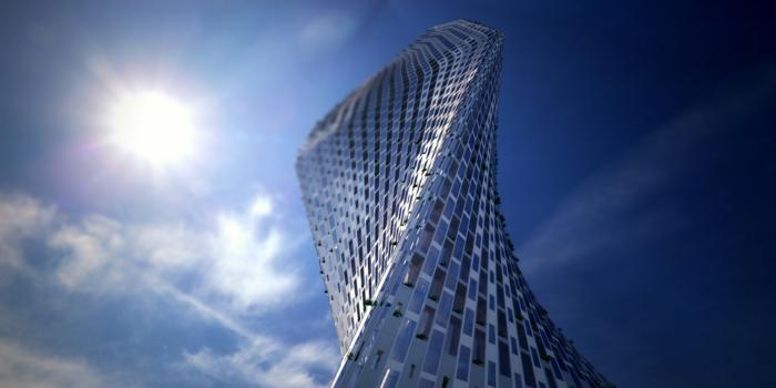 moderne architektur  zukunftsansichten museum der  zukunft wolkenkratzer  licht wagemutig biegsam