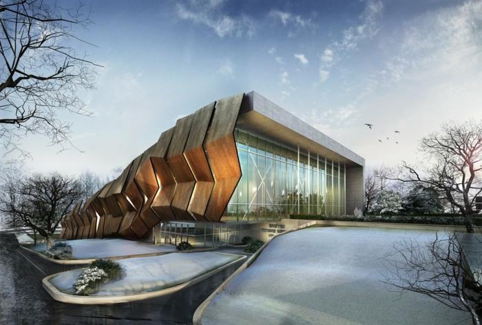 moderne architektur  zukunftsansichten museum der  zukunft wolkenkratzer licht wagemutig expo bauart