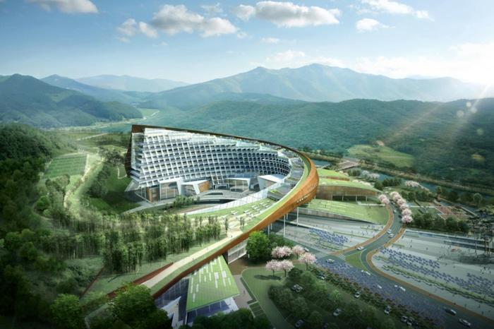 moderne architektur  zukunftsansichten museum  der zukunft wolkenkratzer  licht wagemutig grüne zukunft