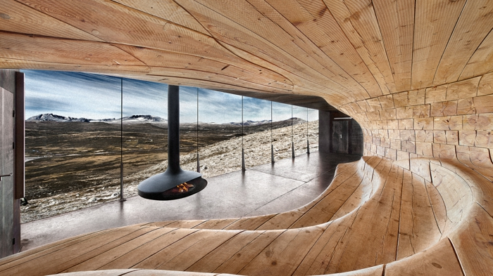 moderne architektur zukunftsansichten museum  der zukunft wolkenkratzer  licht wagemutig holz verkleidung