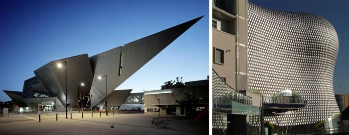 moderne architektur zukunftsansichten  museum der zukunft wolkenkratzer licht wagemutig spitze