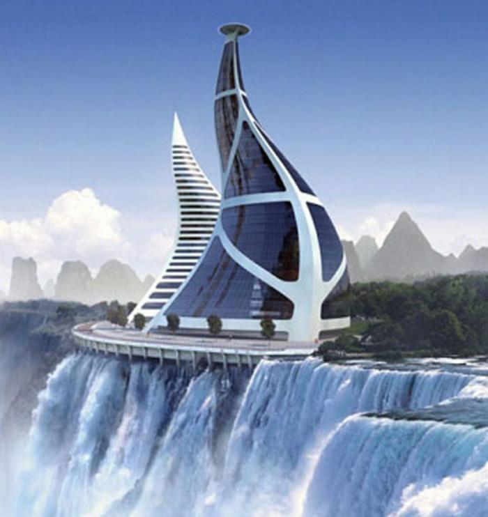 moderne architektur  zukunftsansichten museum der zukunft wolkenkratzer licht wagemutig verdreht