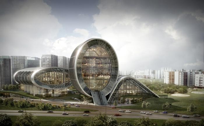 architektur merkmale zukunftsansichten museum der zukunft wolkenkratzer licht wagemutig verspielte räder