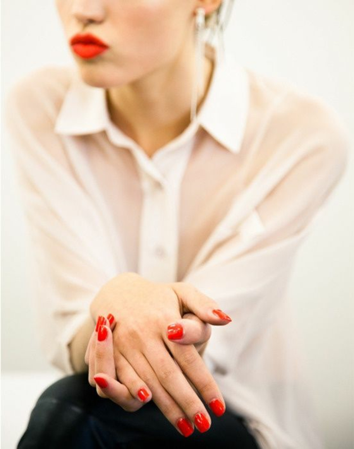 nageldesign rot roter lippenstift lifestyle trends