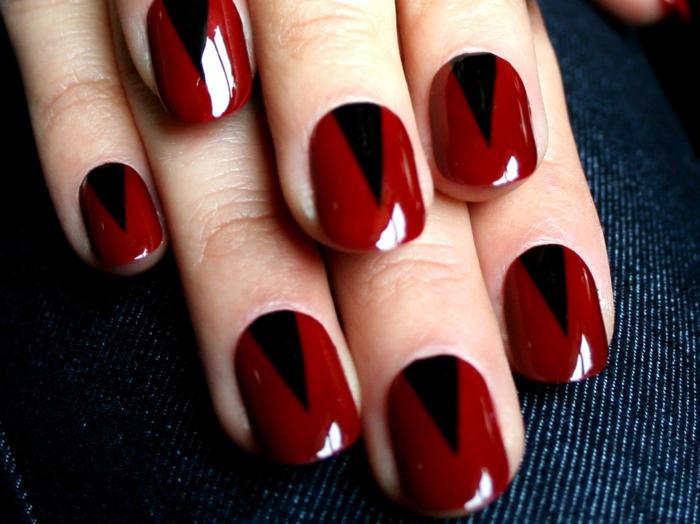 nageldesign rot schwarz hinzufügen lifestyle