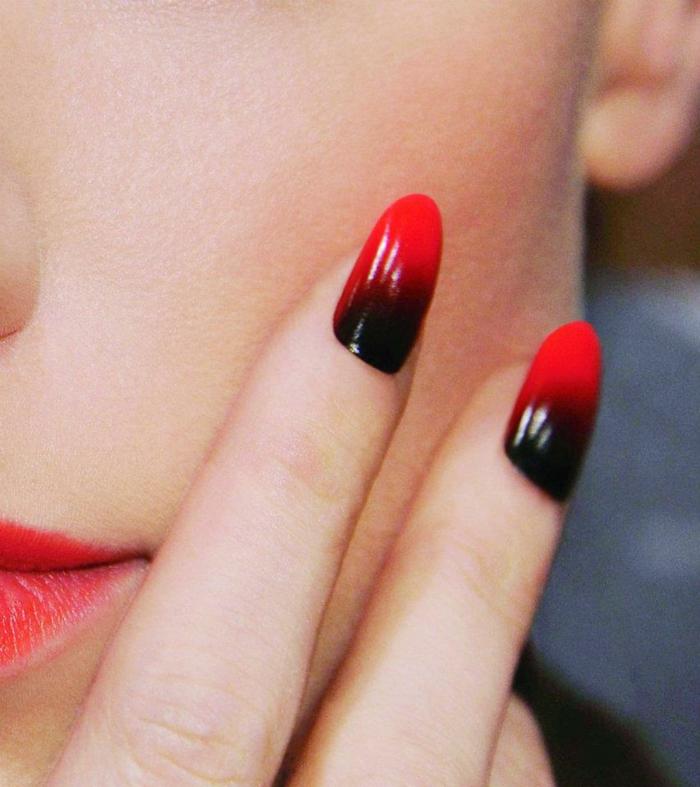 nagellack ideen rot schwarz kombinieren elegant lifestyle