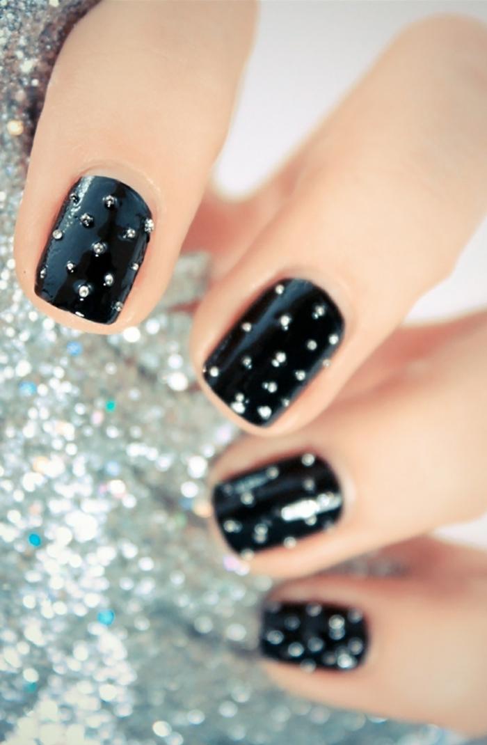 nagellack ideen schwarzer nagellack lifestyle schönheit