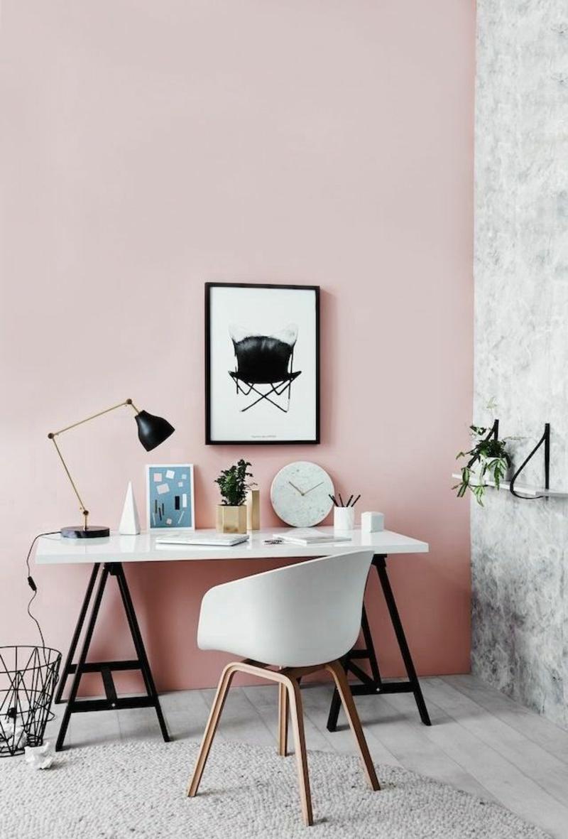 neue Wohntrends Farben Wandgestaltung Arbeitszimmer Wände streichen