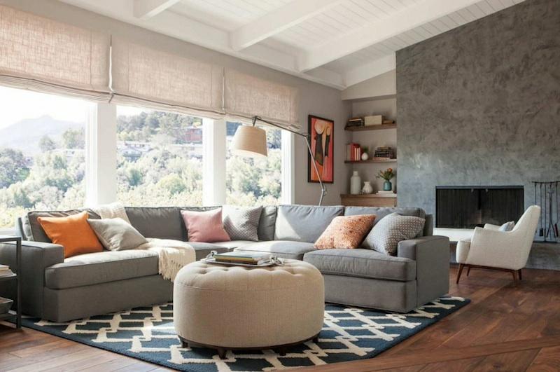 neue Wohntrends Teppich gemustert Wohnungseinrichtung Ideen
