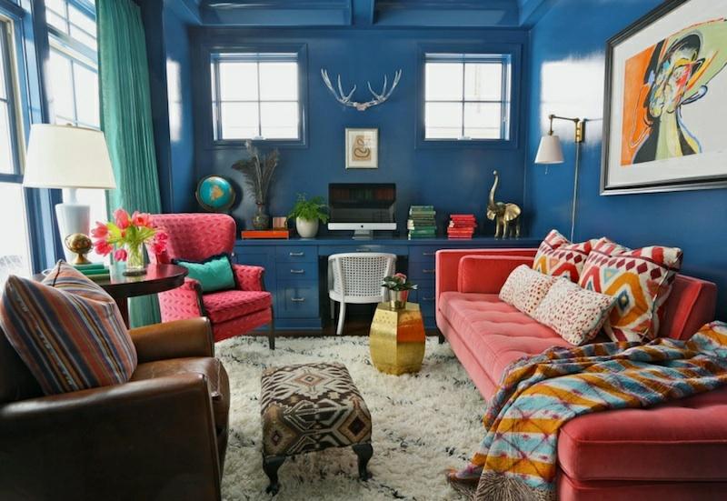 neue Wohntrends farbige Wohnungseinrichtung Ideen