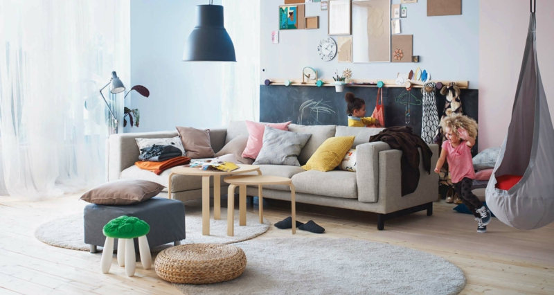 wohnzimmer komplett ikea:Platzsparende Wohnzimmertische aus Holz