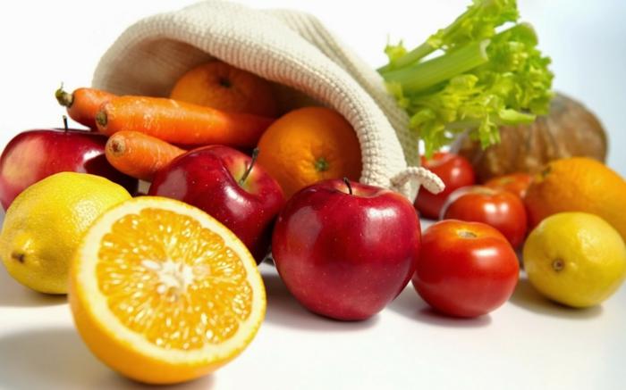 pflege für trockene haut gesunde ernährung früchte