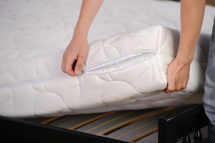 raumgestaltung möbelkauf bett matratze reinigen allergiker gesund hausstaub milben