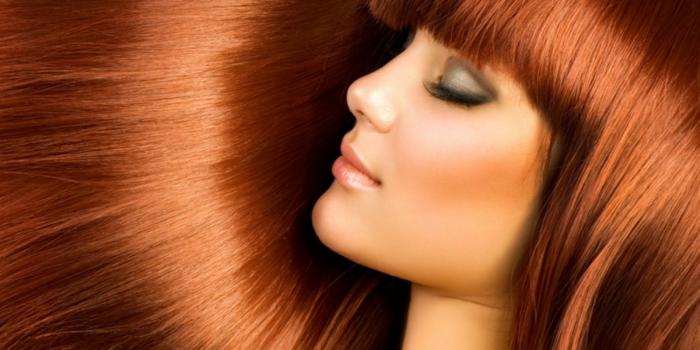 richtige haarpflege winter langes haar rote haare pony