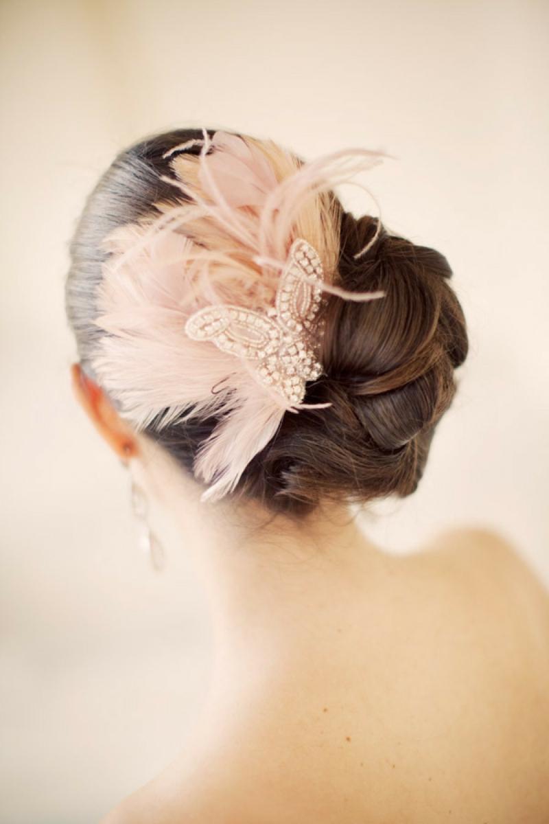 romantischer Haarschmuck Braut Brautfrisuren lange Haare