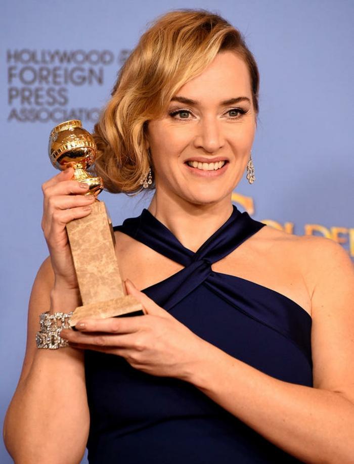schöne Abendkleider Golden Globes 2016 Kate Winslet