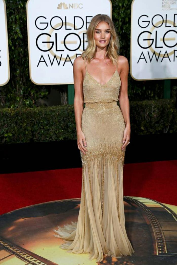 schöne Abendkleider Golden Globes 2016 Rosie Huntington Whiteley