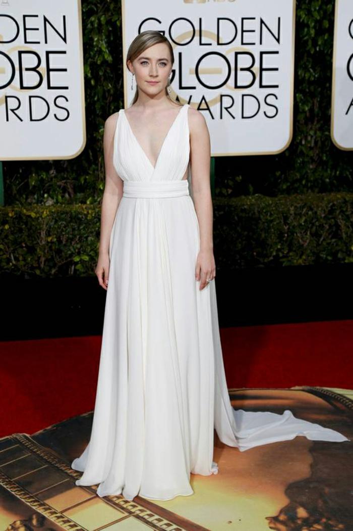 schöne Abendkleider Golden Globes 2016 Saoirse Ronan