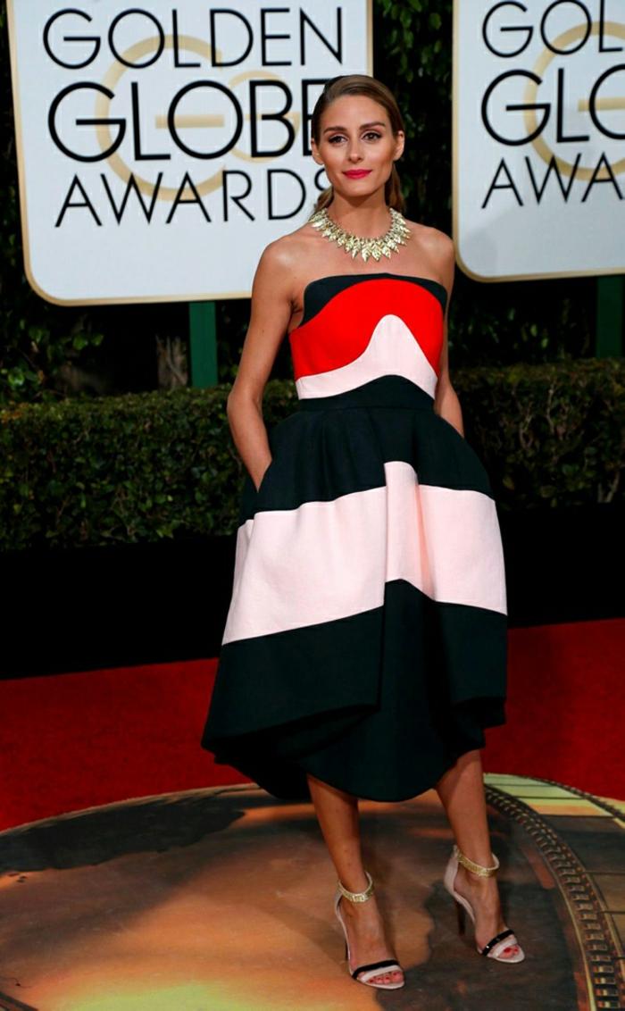 schöne Abendkleider Golden Globes 2016 olivia palermo