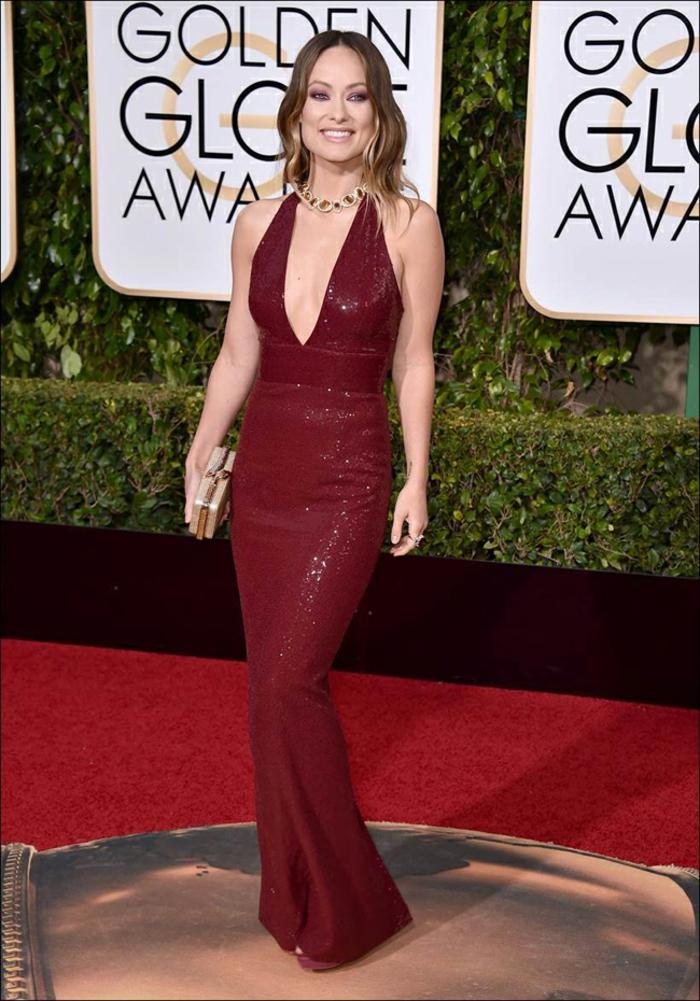 schöne Abendkleider Golden Globes 2016 olivia wilde Michael Kors