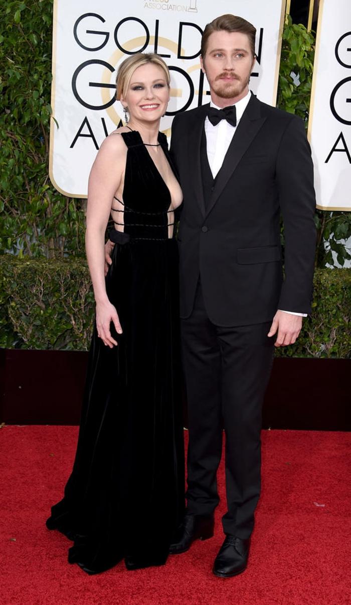 schöne Abendkleider Kirsten Dunst und Garrett Hedlund