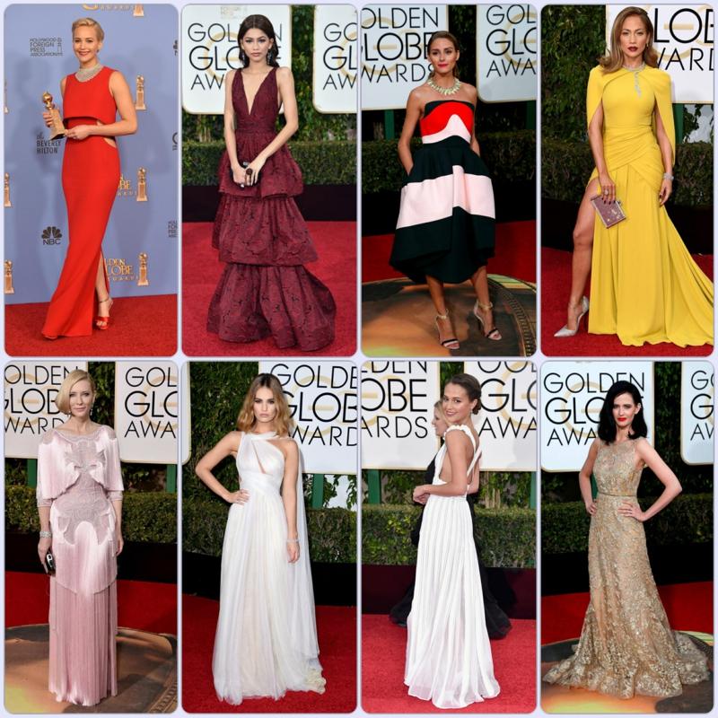schöne Abendkleider lang Golden Globes 2016