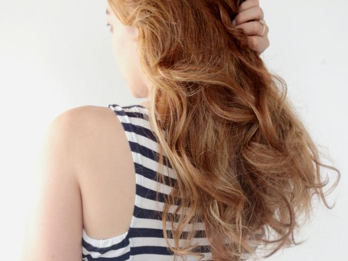 schöne haare pflege feinde lockiges haar