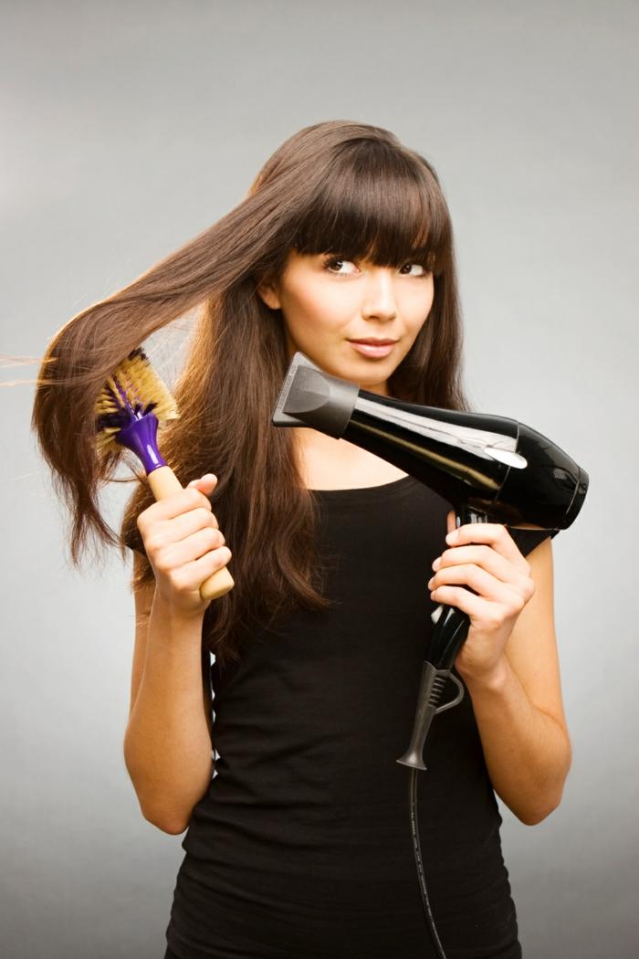 schönes haar tipps haartrockner richtig benutzen