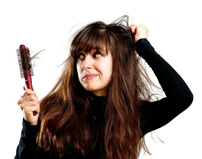 schönes haar tipps richtige pflege haarbürste