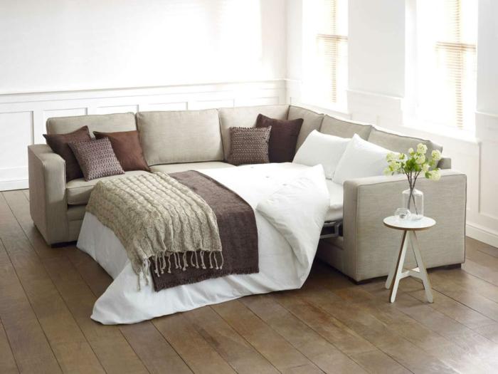 schlafsofa design elegant beistelltisch wohnzimmer