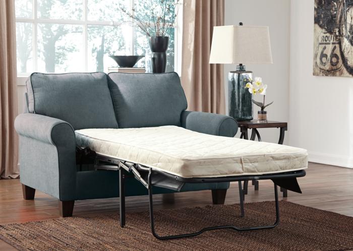 schlafsofas kompaktes design blau ebay wohnzimmer