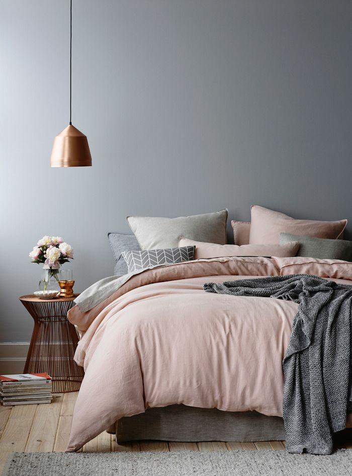 schlafzimmergestaltung bettwäsche und heimtextilien Pastellfarben