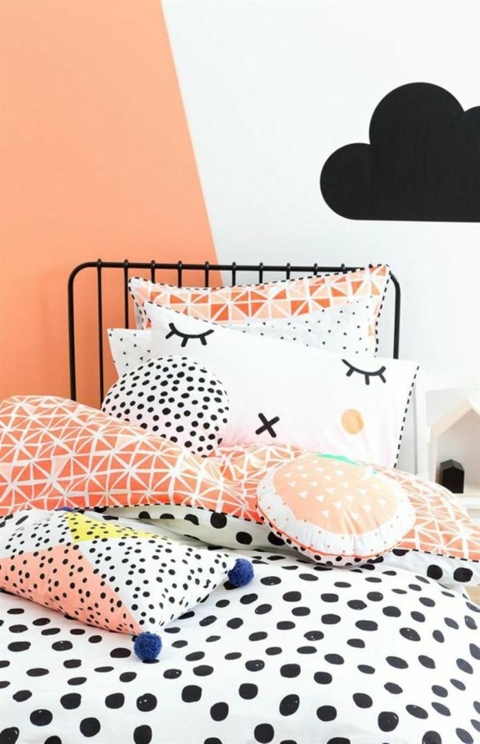 schlafzimmergestaltung einrichtungstipps bettwäsche muster