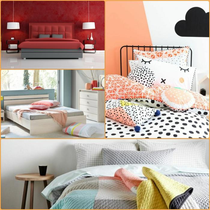 Schlafzimmergestaltung ideen exclusive Bettwäsche und Wandfarben Einrichtungsbeispiele